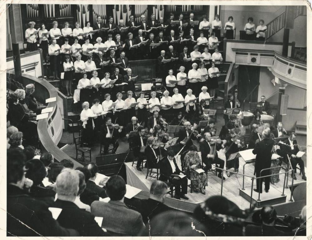 Wigan Choral Society at the Queen Hall in the 70s