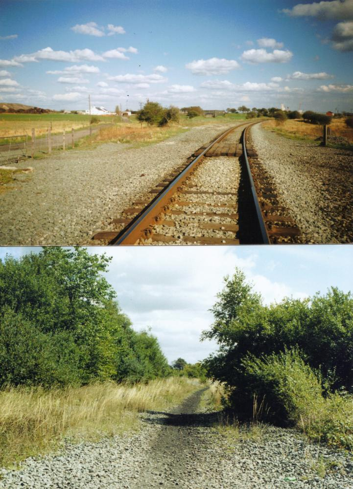 Bickershaw Junction,Then & Now