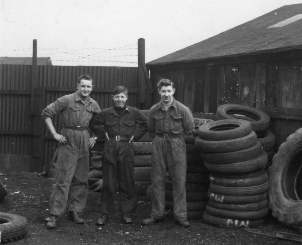 Western Tyre tyre fitters late 1950's or early 60's