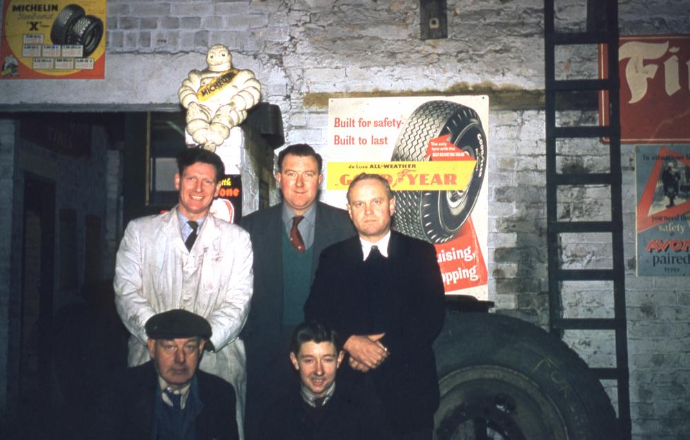 Western Tyre Staff taken in the late 1950's
