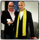 Mark Edward out with film producer and director (Hairspray),  John Waters.