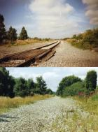 Bickershaw Junction,Then & Now (looking west)